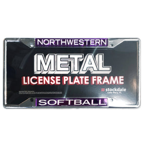Northwestern Wildcats Softball License Plate Frame