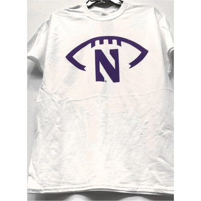Northwestern Wildcats Touchdown Football T-Shirt - White