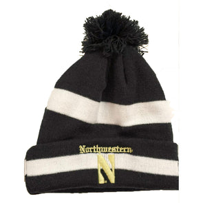 Northwestern Wildcats Gothic Knit Pom