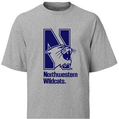 Northwestern Wildcats Ash Northwestern Wildcats Youth T-Shirt