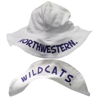 Northwestern Wildcats Infant White Sun Cap