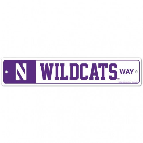 Northwestern Wildcats Street / Zone Sign