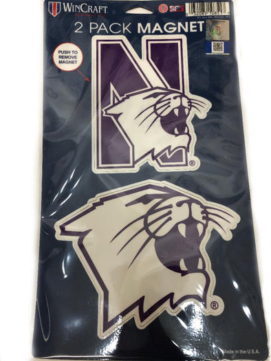 Northwestern Wildcats 2 Pack Magnet