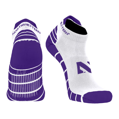 Northwestern Wildcats Low Cut Stripe Socks
