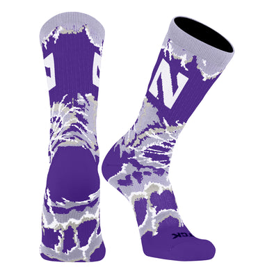 Northwestern Wildcats Tie Dye Crew Socks