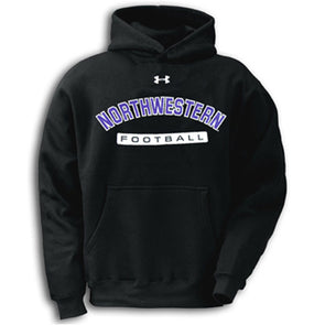 Northwestern Wildcats Under Armour® Black Football Hoodie