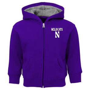 Northwestern Wildcats Full Zip Hoodie - Toddler
