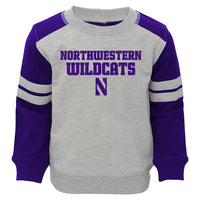 Northwestern Wildcats Toddler French Terry Crew