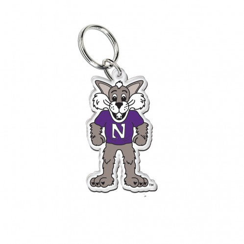 Northwestern Wildcats Willie The Wildcat Keychain