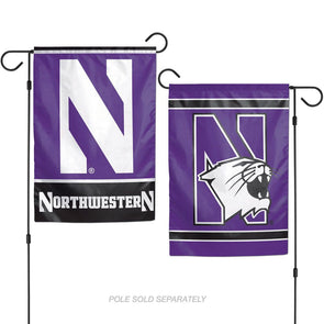Northwestern Wildcats Garden Flag:  2-Sided
