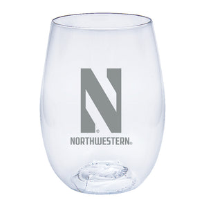 Northwestern Wildcats Govino Wine Glass