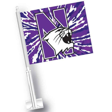 Northwestern Wildcats Tie Dye Car Flag
