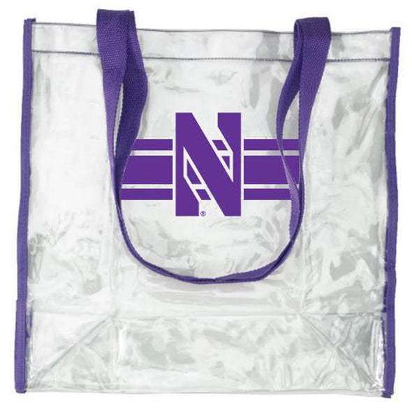 Northwestern Wildcats Clear Ryan Field Compliant Plastic Stadium Bag