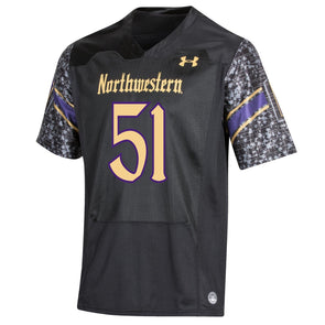 Northwestern Wildcats Gothic Football Jersey-Adult