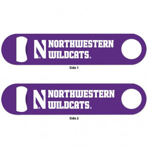 Northwestern Wildcats Metal Bottle Opener 2 Sided