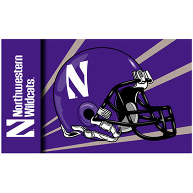 Northwestern Wildcats 3 x 5 Football Flag