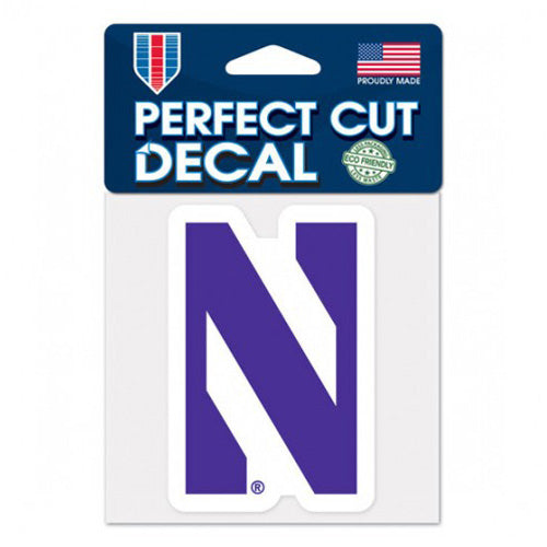 "Northwestern Wildcats Perfect Cut Color Decal 4"" x 4"""