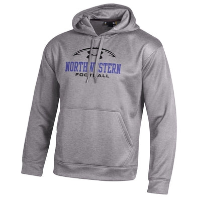 Northwestern Wildcats Under Armour® Grey Football Fleece Hoodie