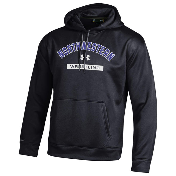 Northwestern Wildcats Under Armour® Wrestling Black Fleece Hoodie