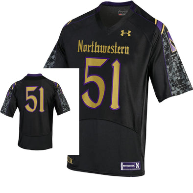 Northwestern Wildcats Under Armour® Youth Gothic Football Jersey