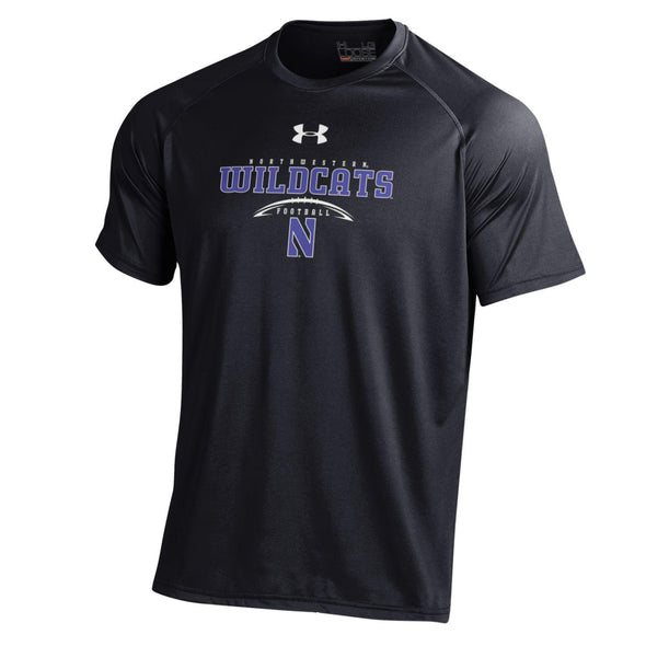 Northwestern University Under Armour Laces T-Shirt-Black