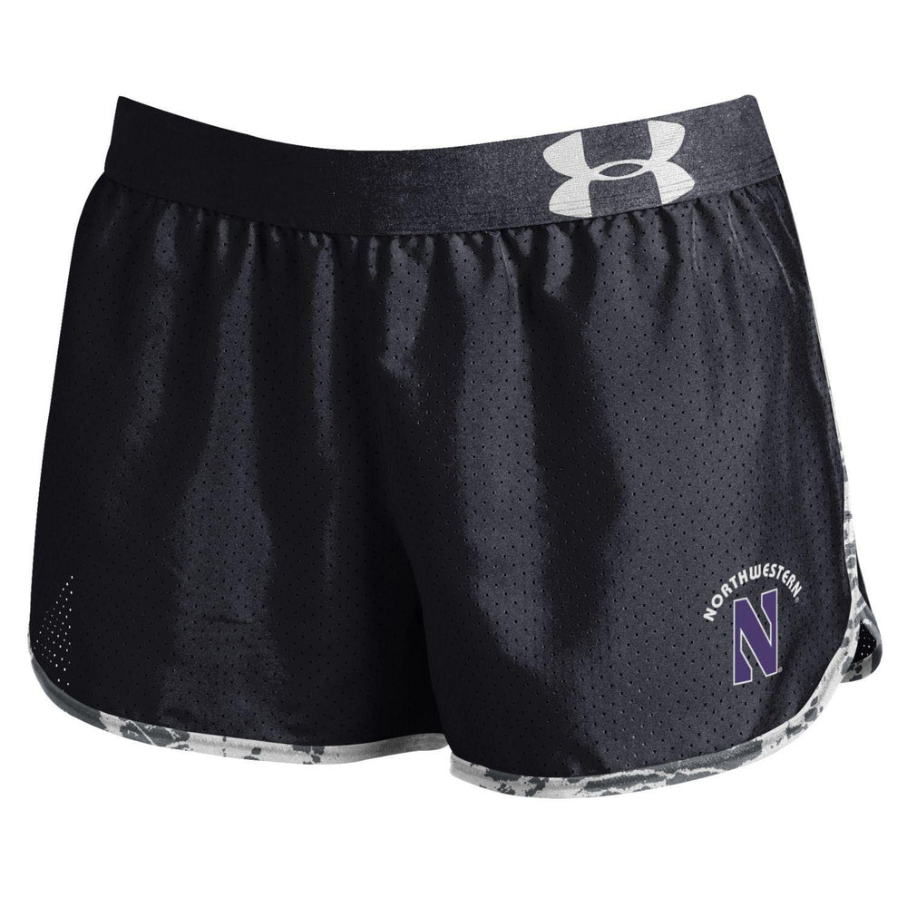 Northwestern Wildcats Under Armour® Women's Performance Run Black Shorts