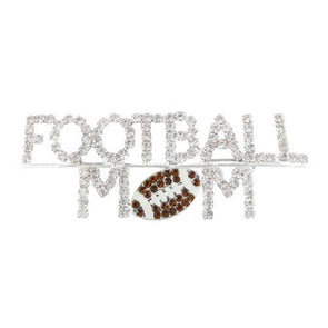 Northwestern Wildcats Football Mom Brooch Pin