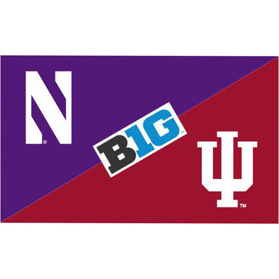 Northwestern Wildcats House Divided Flag Northwestern/ Indiana