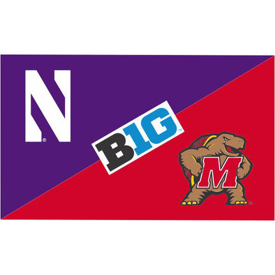 Northwestern Wildcats House Divided Flag Northwestern/ Maryland