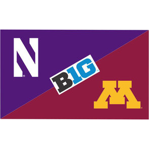 Northwestern Wildcats House Divided Flag Northwestern/ Minnesota