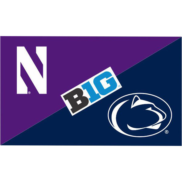 Northwestern Wildcats House Divided Flag Northwestern/ Penn State