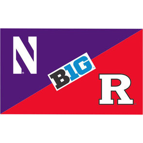 Northwestern Wildcats House Divided Flag Northwestern/ Rutgers