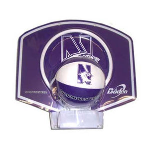 Northwestern Wildcats Basketball Hoop and Ball Set