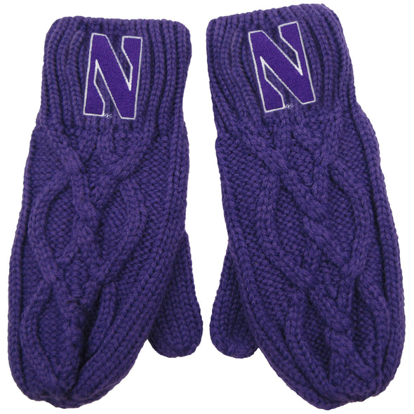 Northwestern Wildcats Cable Mitten