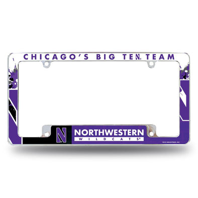 Northwestern Wildcats Chicago's Big Ten Team License Plate Frame