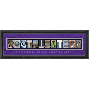 Northwestern Wildcats Campus Print