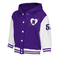 Northwestern Wildcats Toddler Girls Princess Varsity Jacket