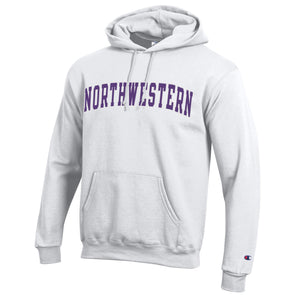 Northwestern Wildcats Champion White Hooded Sweatshirt