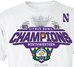 Northwestern Wildcats 2021 Citrus Bowl Champions T-Shirt