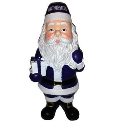 Northwestern Wildcats Collegiate Santa Claus