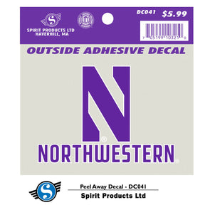 "Northwestern Wildcats Peel Away 3"" x 4"" Decal"