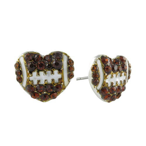 Northwestern Wildcats Mini I Love Football Stud Earrings