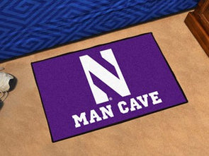 Northwestern Wildcats Man Cave Mat