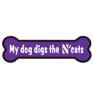 Northwestern Wildcats Dog Bone Magnet