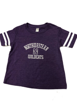 Northwestern Wildcats Toddler Football Fine Jersey Tee