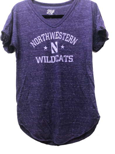 Northwestern Wildcats Ladies Confetti V-Neck