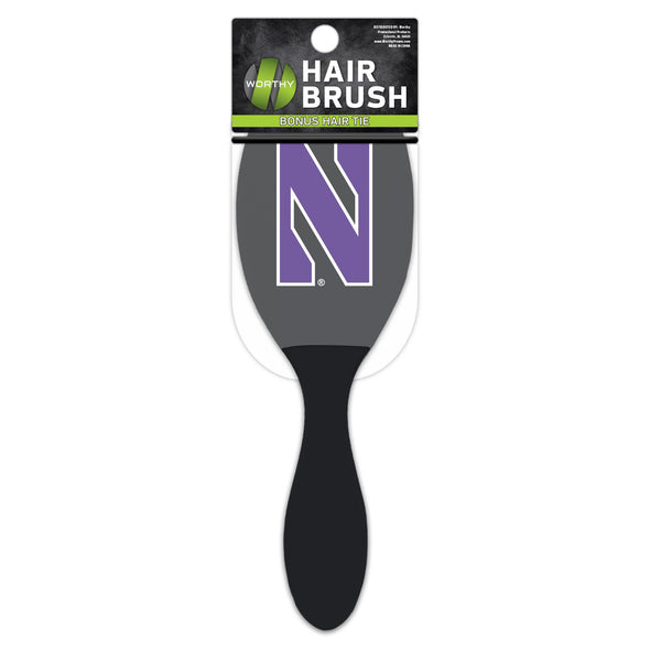 Northwestern Wildcats Salon Style Hair Brush w/ Ball-Tipped Bristles