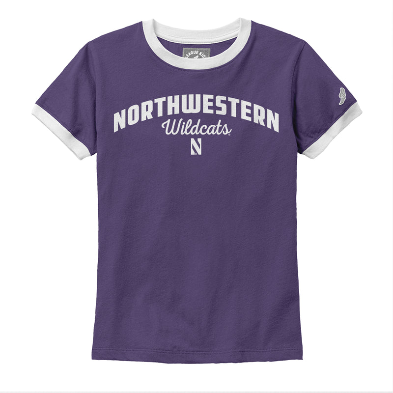 Northwestern Wildcats League® Girls Camp Ringer Tee