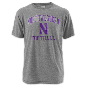 Northwestern Wildcats League® Football Tri-Blend T-Shirt