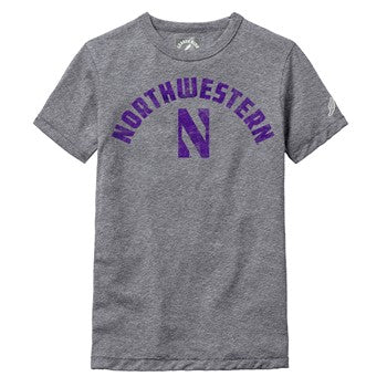 Northwestern Wildcats Youth Tri-Blend Tee